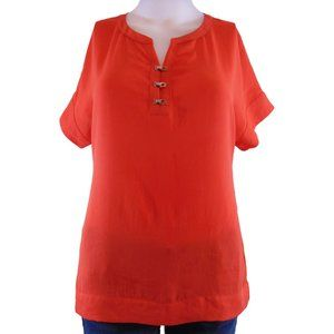 Banana Republic Orange/Red Blouse - Size XS (NEW)